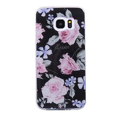 Hülle Für Samsung Galaxy S8 Plus S8 IMD Muster Rückseitenabdeckung Glänzender Schein Blume Weich TPU für S8 S8 Plus S7 edge S7 S6 edge S6