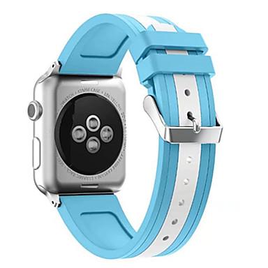 Uhrenarmband für Apple Watch Series 3 / 2 / 1 Apple Klassische Schnalle Silikon Handschlaufe