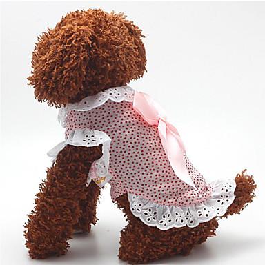 Hond Jurken Hondenkleding Casual/Dagelijks Modieus Stippen Blauw Roze Kostuum Voor huisdieren