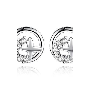 Pentru femei Cercei Stud - Plastic Αστέρι Design Unic Argintiu Pentru Nuntă / Petrecere / Zilnic