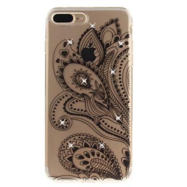 Für iphone 7 7 plus 6 6s plus 5 5s se Fallabdeckung halbe Blumenmuster hd gemaltes Bohrgerät tpu Material imd Prozess hohes penetration