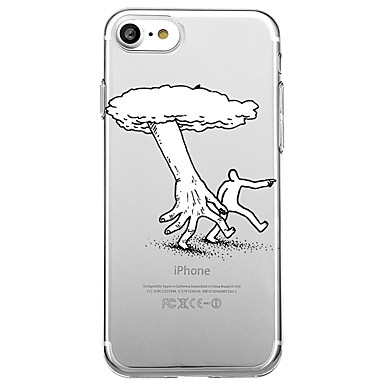 hoesje Voor Apple Transparant Patroon Achterkantje Cartoon Zacht TPU voor iPhone 7 Plus iPhone 7 iPhone 6s Plus iPhone 6 Plus iPhone 6s