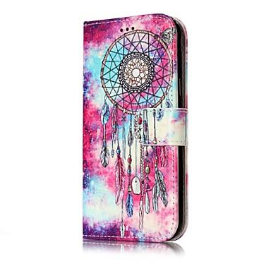 hoesje Voor Samsung Galaxy J7 (2016) J5 (2016) Portemonnee Kaarthouder met standaard Flip Volledige behuizing Vlinder Dromenvanger Hard