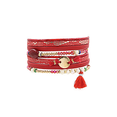Dames Lederen armbanden Sieraden Vintage Bohémien Turks Modieus Gothic Leder Rechthoekig Sieraden Bruiloft Feest Vuosipäivä Verjaardag