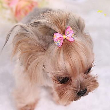 كلب اكسسوارات الشعر ملابس الكلاب جميل ببيونة فوشيا أزرق زهري كوستيوم للحيوانات الأليفة