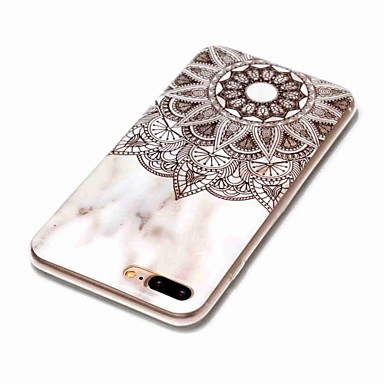 8 Custodia iPhone TPU 05968226 iPhone Fiori IMD iPhone Apple X Morbido 8 Mandala Per marmo 8 Per iPhone Effetto iPhone per X retro Plus xwIqXIr