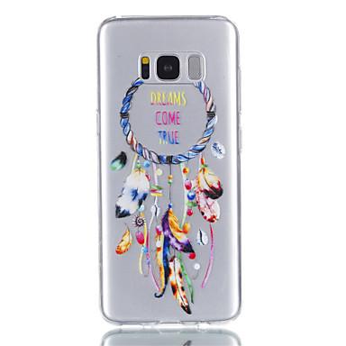 hoesje Voor Samsung Galaxy S8 Plus S8 Transparant Patroon Achterkantje Veren Zacht TPU voor S8 S8 Plus S7 edge S7 S6 S5