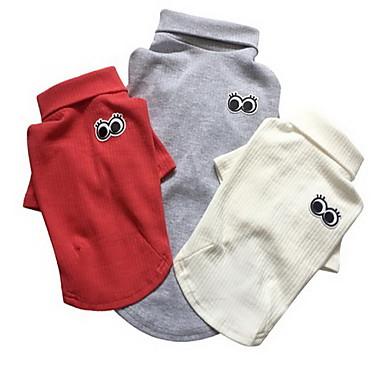 Hond T-shirt Hondenkleding Casual/Dagelijks Effen Wit Grijs Rood Roze Kostuum Voor huisdieren