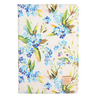 Hülle Für Apple iPad Air 2 iPad Air iPad 4/3/2 mit Halterung Flipbare Hülle Muster Ganzkörper-Gehäuse Blume Hart PU-Leder für iPad Air