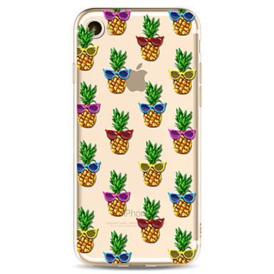 Voor apple iphone 7 7 plus 6s 6 plus case cover ananas patroon geverfd hoge penetratie tpu materiaal zacht geval telefoon hoesje