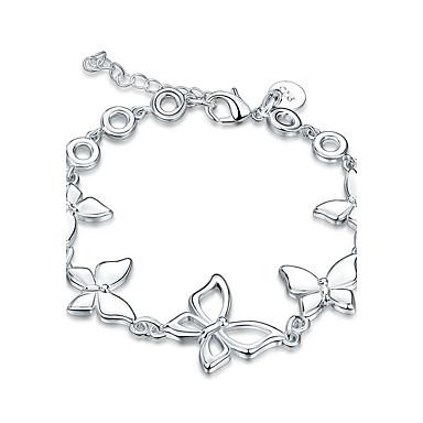 Damen Mädchen Kristall versilbert Schleifenform Ketten- & Glieder-Armbänder - Retro Freundschaft Modisch Schleifenform Silber Armbänder