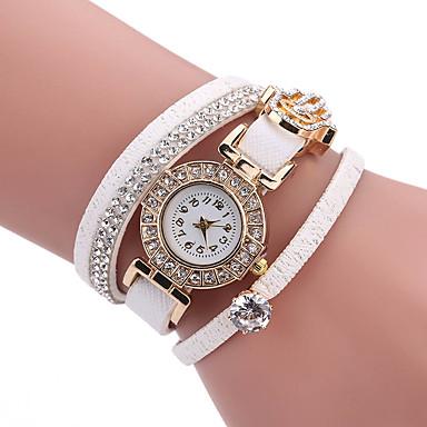 Dames Modieus horloge Unieke creatieve horloge Vrijetijdshorloge Armbandhorloge Kwarts PU BandBedeltjes Vrijetijdsschoenen Creatief