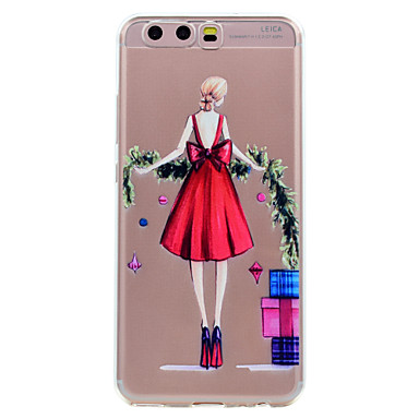 Hülle Für Huawei Transparent Muster Rückseite Sexy Lady Cartoon Design Weich TPU für P10 Plus P10 Lite P10 P8 Lite (2017) Huawei