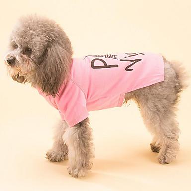 Tricou Îmbrăcăminte Câini Casul/Zilnic Modă Sport Englezesc Galben Fucsia Verde Albastru Roz Costume Pentru animale de companie