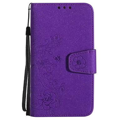 hoesje Voor Samsung Galaxy A5(2017) A3(2017) Kaarthouder Portemonnee Flip Patroon Reliëfopdruk Volledig hoesje Bloem Glitterglans Hard