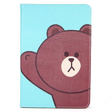 غطاء من أجل Apple آي باد ميني 4 باد البسيطة 3/2/1 مع حامل قلب نموذج النوم / الإيقاظ التلقائي غطاء كامل للجسم كارتون قاسي جلد PU إلى iPad