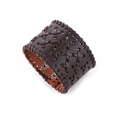 Heren Lederen armbanden Sieraden Natuur Modieus Leder Legering Bruin epäsäännöllinen Sieraden Speciale gelegenheden  Lahja Kostuum juwelen