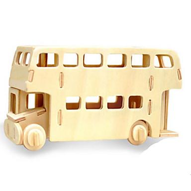 Speelgoedauto's 3D-puzzels Legpuzzel Houten modellen Dinosaurus Tank Vliegtuig Bus 3D Dieren DHZ Hout Klassiek Kinderen Unisex Geschenk