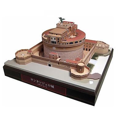 3D - Puzzle Papiermodel Modellbausätze Quadratisch Burg Berühmte Gebäude Architektur Heimwerken Hartkartonpapier Klassisch Unisex Geschenk