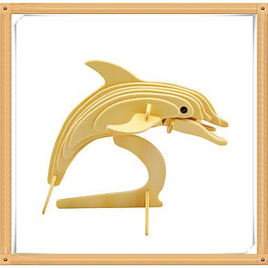 Puzzle 3D Puzzle Modele de Lemn Μοντέλα και κιτ δόμησης Dolphin Pești 3D Animale Reparații De lemn Lemn Pentru copii Cadou