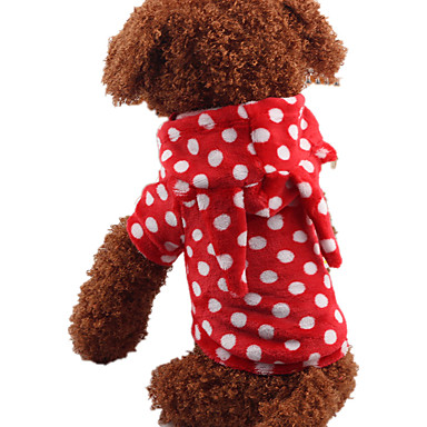 Hond kostuums Hondenkleding Casual/Dagelijks Stippen Paars Rood Blauw