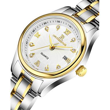 Dames Modieus horloge Kwarts Kalender Waterbestendig Legering Band Zilver Goud