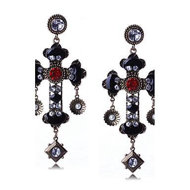 Dames Druppel oorbellen Dangle Oorbellen Bergkristal Gepersonaliseerde Religieuze sieraden Luxe Meetkundig Uniek ontwerp Hangende stijl