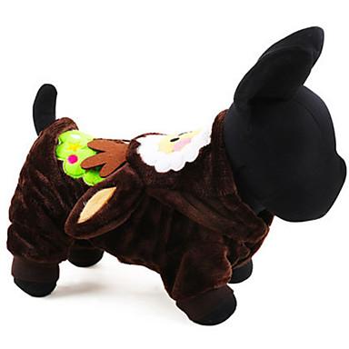كلب ازياء تنكرية ملابس الكلاب الكوسبلاي عيد الميلاد متين بني أحمر