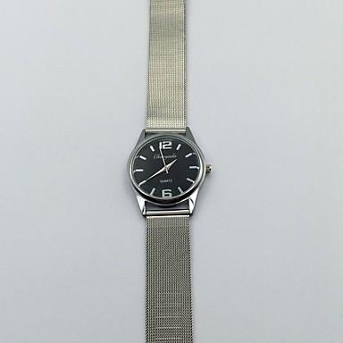 Damen Kleideruhr Armbanduhr Quartz Metall Band Vintage Cool Bequem Silber