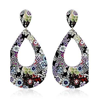 Damen Tropfen-Ohrringe Kreolen Kugel-Ohrringe Geometrisch Einzigartiges Design Anhänger Regenbogen Euramerican Modisch Rock