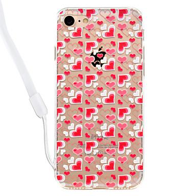 غطاء من أجل Apple شفاف نموذج غطاء خلفي قلب قاسي أكريليك(Acrylic) إلى فون 7 زائد فون 7 iPhone 6s Plus iPhone 6 Plus iPhone 6s أيفون 6