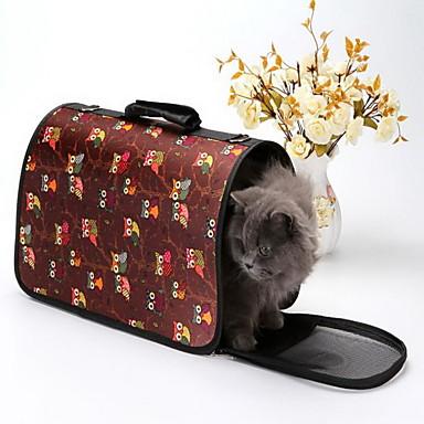 Pisici Câine Portbagaje & rucsacuri de călătorie Animale de Companie  Genţi Transport Portabil Respirabil Dungi Bufniţă Desene Animate