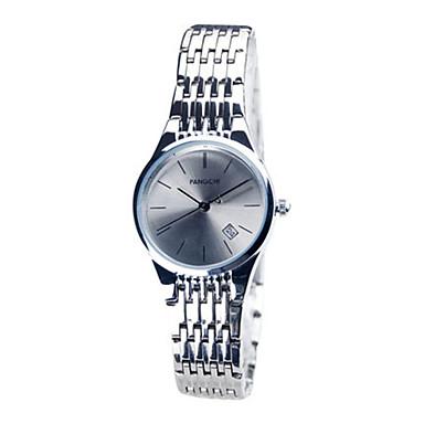 Dames Dress horloge Modieus horloge Kwarts Kalender Waterbestendig Legering Band Zilver Goud