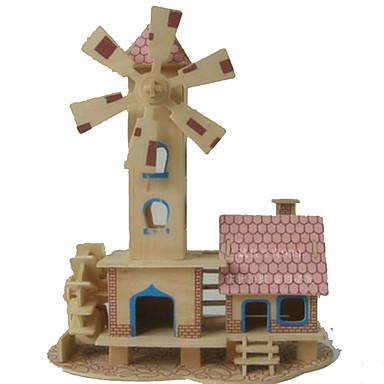 Puzzle 3D Puzzle Modele de Lemn Μοντέλα και κιτ δόμησης Dreptunghiular Dom 3D Lemn Fete Unisex Cadou