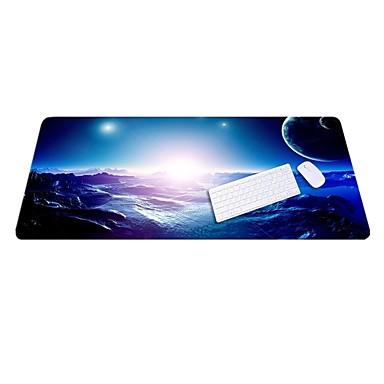 Lo6 blauw muismat oversized dikker slot toetsenbord rubberen doek 100 * 50cm