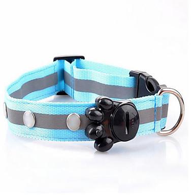 Knaagdieren Hond Kraag blafhalsband LED verlichting draagbaar Veiligheid Verstelbaar Polka dot Stof Rood Groen Roze Lichtblauw Koud Wit