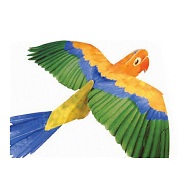 3D - Puzzle Holzpuzzle Modellbausätze Papiermodelle Spielzeuge Vogel 3D Parrot Tiere Heimwerken Simulation Unisex Stücke