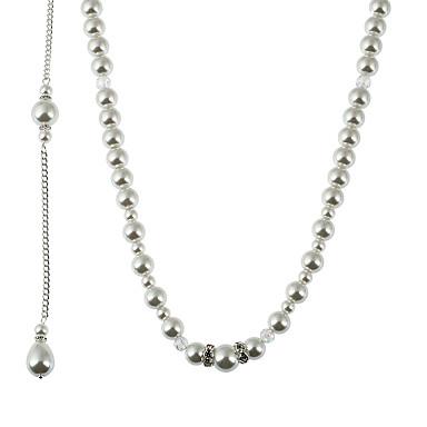 Damen Irregulär Gestalten Quaste doppelt-Perlen Modisch Künstliche Perle Halsketten Anhängerketten Ketten Imitierte Perlen Künstliche