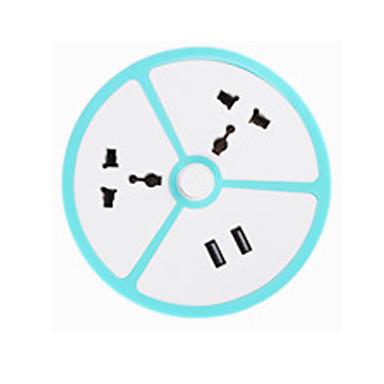 Eu / us / uk / au Stecker Frucht Steckdose kreative usb Aufladung Multifunktionsschalter Steckdose mit 2 Steckdosen und 2 USB - Anschlüsse