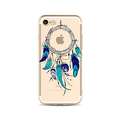 hoesje Voor Apple iPhone X iPhone 8 Plus Transparant Patroon Achterkant Dromenvanger Zacht TPU voor iPhone X iPhone 8 Plus iPhone 8
