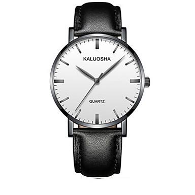 Heren Modieus horloge Polshorloge Digitaal Leer Band Zwart