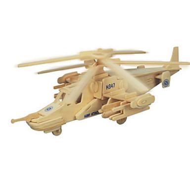 3D - Puzzle Metallpuzzle Holzmodell Modellbausätze Spielzeuge Flugzeug Heimwerken Naturholz keine Angaben Stücke