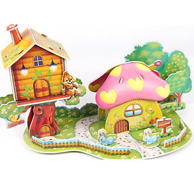 Kit Lucru Manual Puzzle 3D Puzzle Modelul de hârtie Jucarii Casă Ciupercă Arhitectură 3D Ne Specificat Băieți Unisex Bucăți