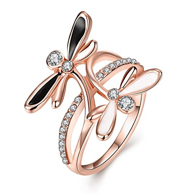 Pentru femei Inel Zirconiu Cubic Argintiu Roz auriu Aur roz Zirconiu Articole de ceramică Placat Cu Aur Roz Bowknot Shape Geometric Shape