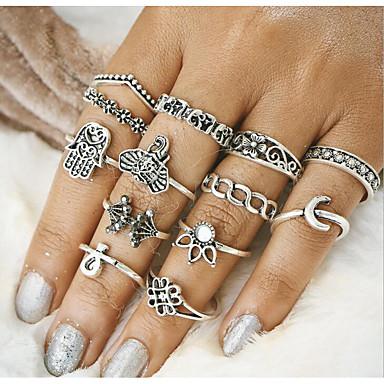Pentru femei Aliaj - Geometric Shape Vintage Auriu Argintiu Inel Pentru Zilnic