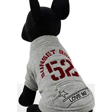 Hond Sweatshirt Hondenkleding Casual/Dagelijks Brits Grijs Paars Kostuum Voor huisdieren