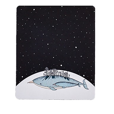 Miss Little Star Whale Art Verse illustratie muismat natuurlijk rubber doek 20 * 23.8