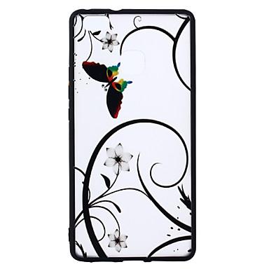 Caz de acoperire pentru huawei p9 lite p8 litiu model de back cover case fluture floare hard pc