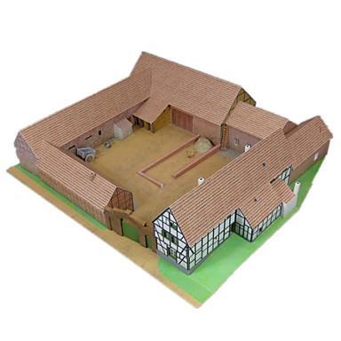 3D-puzzels Bouwplaat Papierkunst Modelbouwsets Beroemd gebouw Simulatie DHZ Klassiek Unisex Geschenk