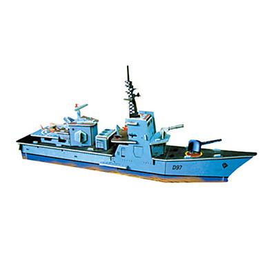 3D-puzzels Legpuzzel Modelbouwsets Kerstmis Beroemd gebouw Schip Architectuur Torpedojager 3D DHZ Hard Kaart Paper Klassiek Cartoon